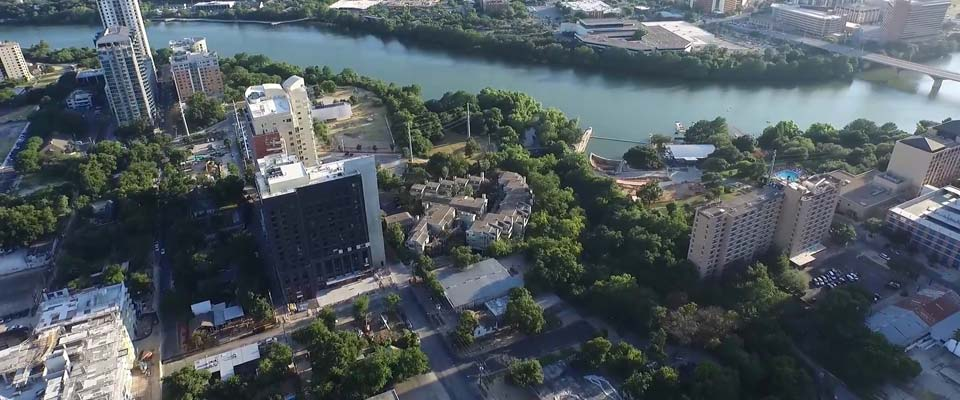Future location of 60-story tower off Rainey Street in Austin